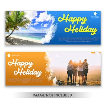 Banner happy fun holiday