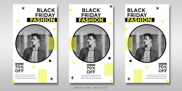 Banner de historias de instagram de redes sociales de venta de viernes negro
