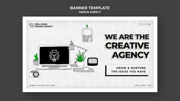 Banner horizontal de agencia de diseño