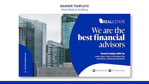 Banner horizontal de asesores inmobiliarios.
