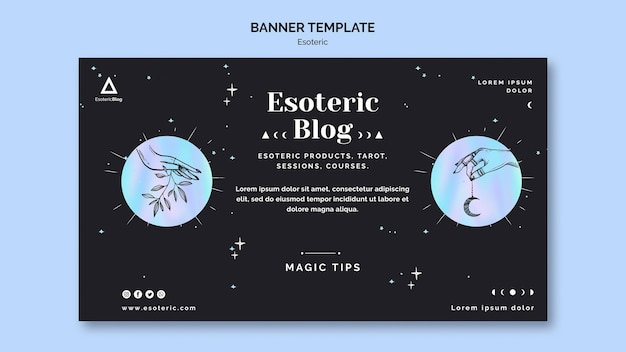 Banner horizontal para blog esotérico.