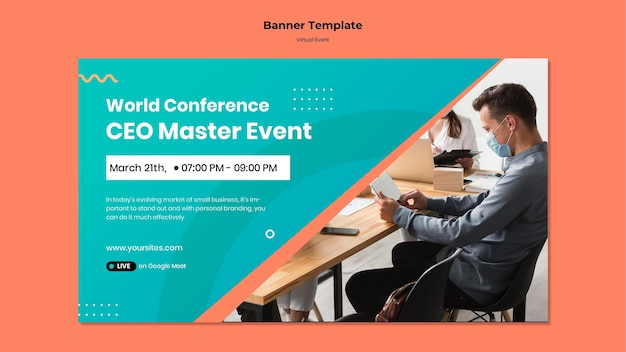 Banner horizontal para ceo master event conference