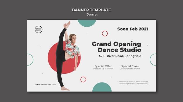 Banner horizontal de clase de baile