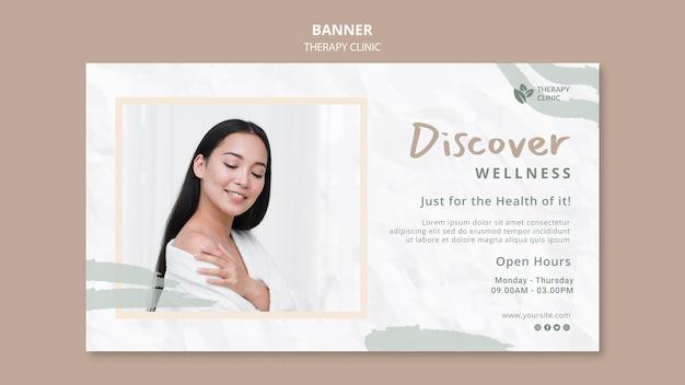 Banner horizontal de clínica de terapia.