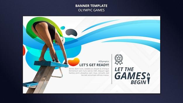 Banner horizontal de competición deportiva con foto