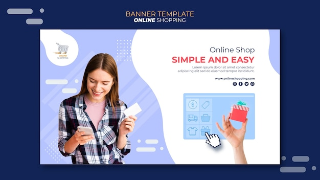 Banner horizontal para compras en línea