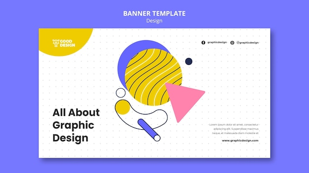 Banner horizontal para diseño gráfico
