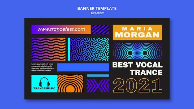 Banner horizontal para el festival de música trance 2021