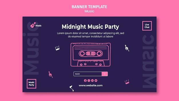 Banner horizontal para fiesta musical.