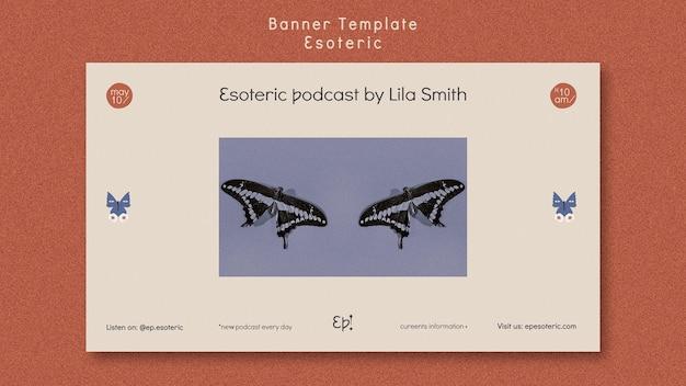 Banner horizontal para el misticismo y el esoterismo.