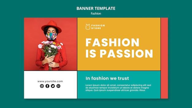 Banner horizontal de moda es pasión