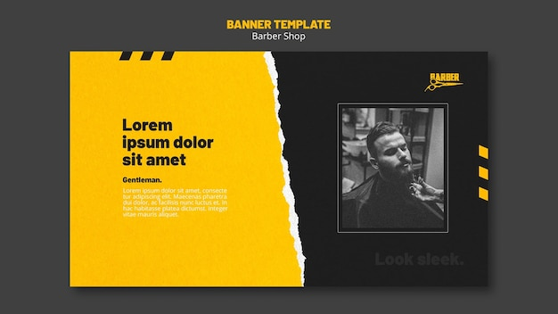Banner horizontal para negocio de peluquería.
