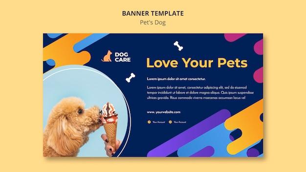 Banner horizontal para negocio de tienda de mascotas.