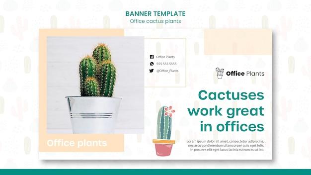 Banner horizontal para plantas de espacio de trabajo de oficina.
