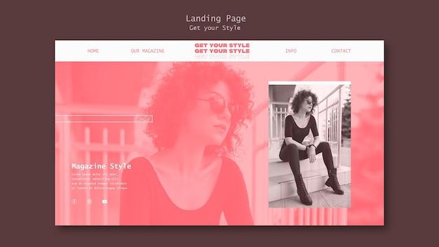 Banner horizontal para revista de estilo electrónico.