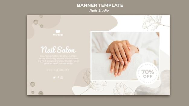 Banner horizontal para salón de uñas.