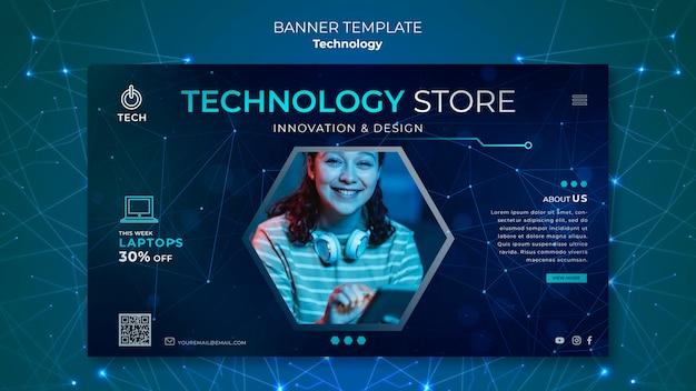 Banner horizontal para tienda techno.