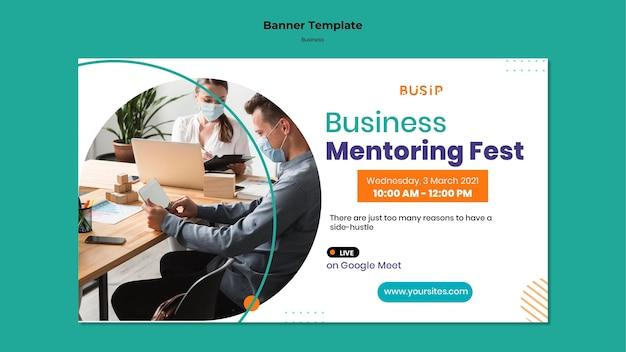 Banner horizontal para webinar y puesta en marcha de empresas.