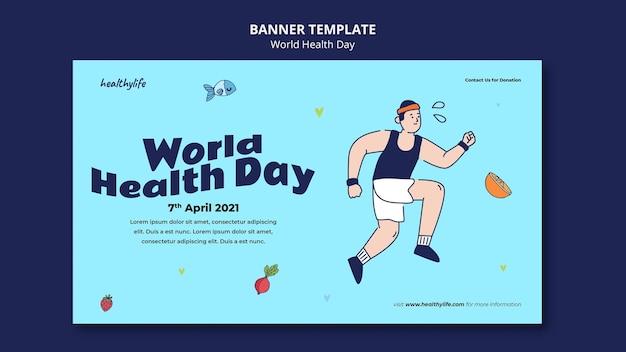 Banner ilustrado del día mundial de la salud