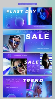 Banner in neon thema