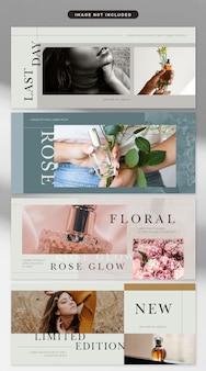 Banner in tema di cosmetici e moda