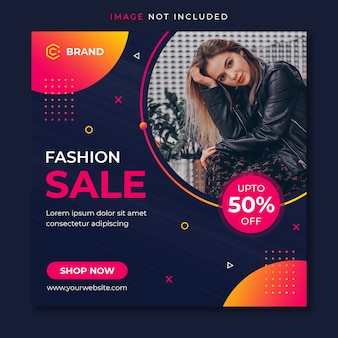 Banner de instagram de venta de moda