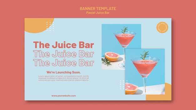 Banner juice bar sjabloon
