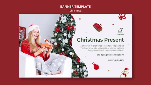 Banner kerstcadeautjes winkel sjabloon