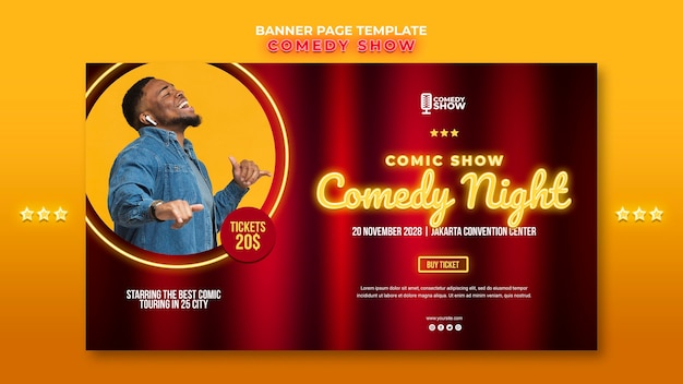 Banner komedie show sjabloon