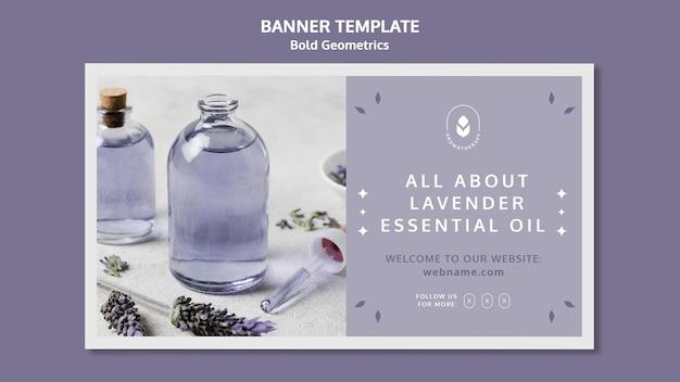 Banner lavendelolie sjabloon