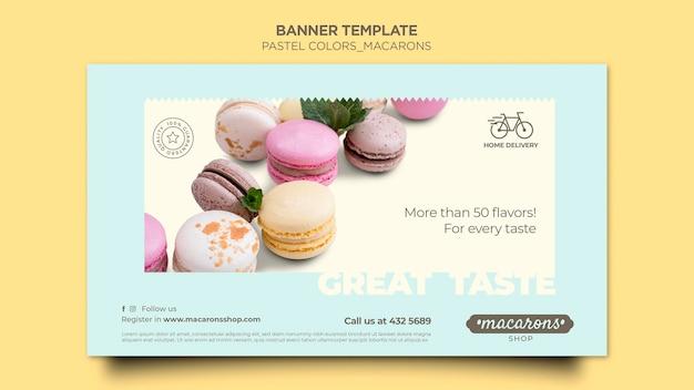 Banner macarons winkel sjabloon