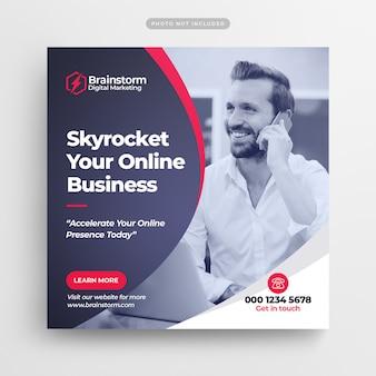Banner de medios sociales de marketing de negocios digitales