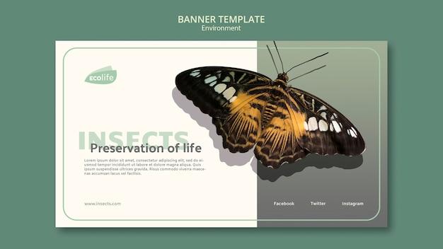 Banner met milieuontwerp