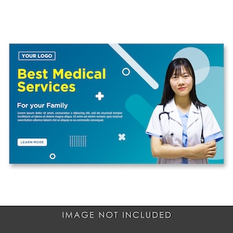 Banner miglior modello di progettazione medica mephis