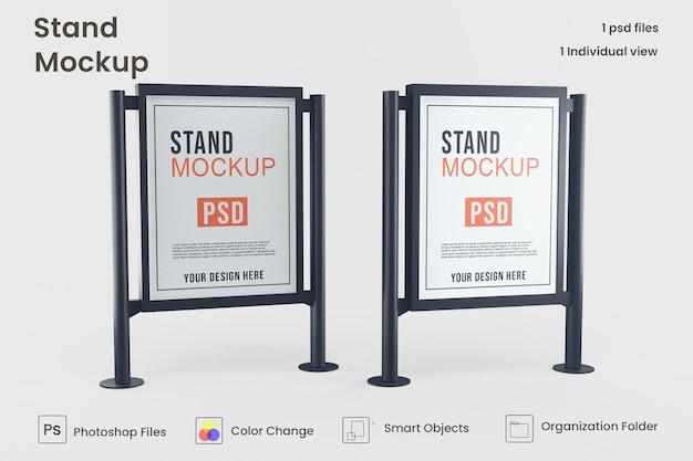 Banner mockup-ontwerp voor reclamestandaard