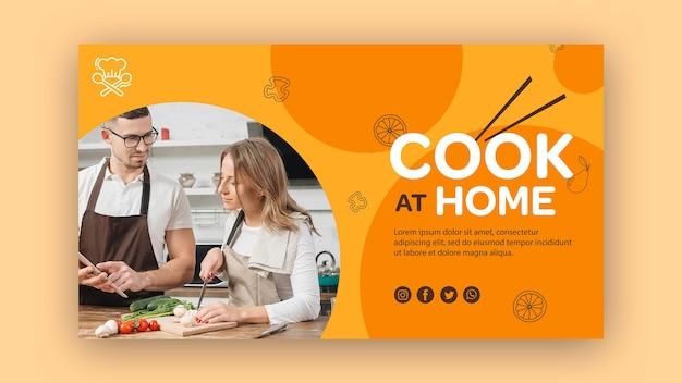 Banner modello cuoco a casa