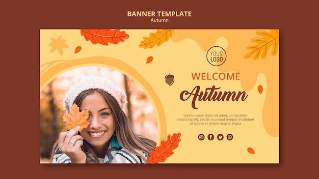 Banner modello di annuncio autunno
