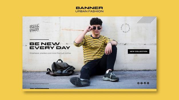 Banner modello di moda urbana