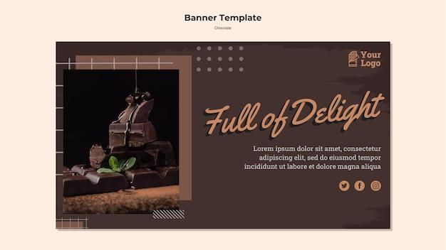 Banner modello di negozio di cioccolato