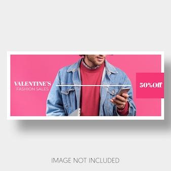 Banner modello di vendita di san valentino