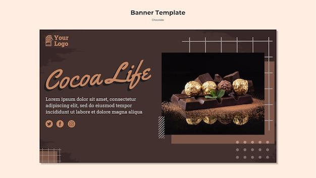 Banner modello negozio di cioccolato