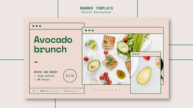 Banner modello ristorante brunch