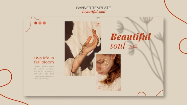 Banner mooie ziel advertentiesjabloon