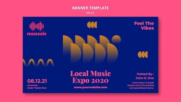 Banner muziek expo sjabloon