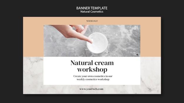 Banner natuurlijke cosmetica sjabloon