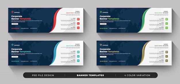 Banner de negocios modernos con variación de color