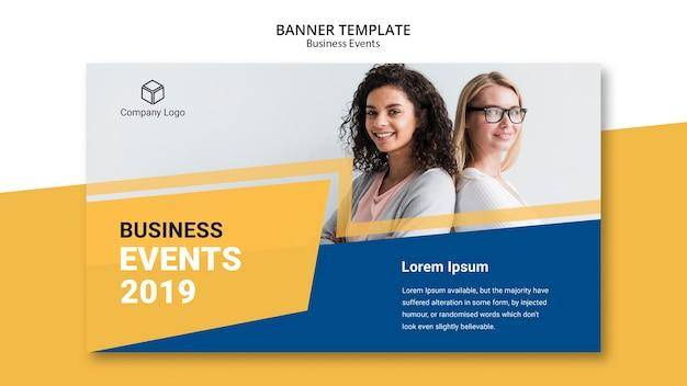 Banner de negocios de plantilla web