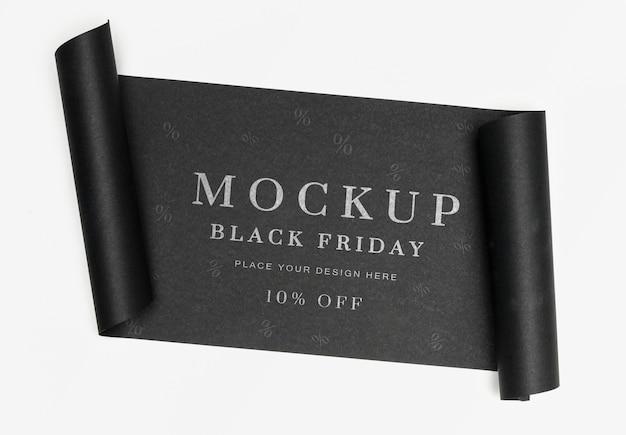 Banner negro de maqueta de viernes negro