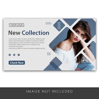 Banner nieuwe collectie schone en moderne sjabloon