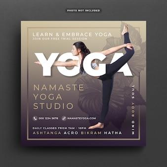 Banner o modello di yoga post